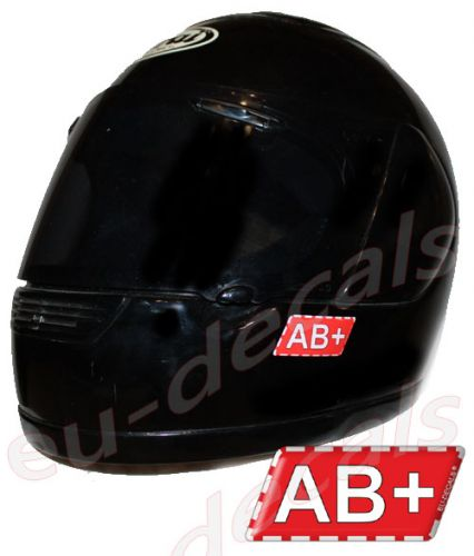 Helmet AB+ Blood Type Unscratchable 3D Decal