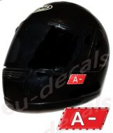 Helmet A- Blood Type Unscratchable 3D Decal