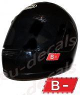 Helmet B- Blood Type Unscratchable 3D Decal