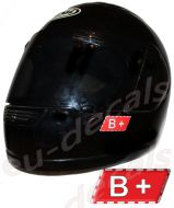 Helmet B+ Blood Type Unscratchable 3D Decal