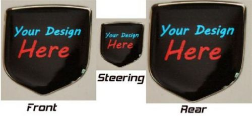 fits Dodge Charger 2006 -2010 Combo, Nose + Steering Wheel + Rear Trunk Lid Emblems Set of 3X2 - 3D Decal badge – Your Unique Custom Design with any logo you like