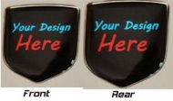 fits Dodge Charger 2006 -2010 Combo, Nose + Rear Trunk Lid Emblems Set of 2X2 - 3D Decal badge – Your Unique Custom Design with any logo you like