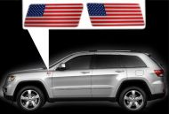 for Jeep Grand Cherokee specific made fender American  flags set Left-Right 3D Decals