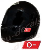Helmet O- Blood Type Unscratchable 3D Decal