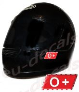 Helmet O+ Blood Type Unscratchable 3D Decal