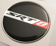 50mm SRT 8 New Style Black Red Chrome 3D Decal sticker for dodge chrysler cars