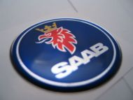 63.5mm/2.50inc.SAAB Hood badge 3D decal