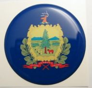 2inc VERMONT State flag America 3D Decal sticker USA