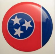 2inc TENNESSEE State flag America 3D Decal sticker USA