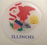 2inc ILLINOIS State flag America 3D Decal sticker USA