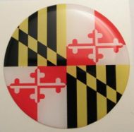 2inc MARYLAND State flag America 3D Decal sticker USA
