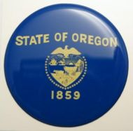 2inc OREGON State flag America 3D Decal sticker USA