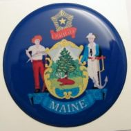 2inc MAINE State flag America 3D Decal sticker USA