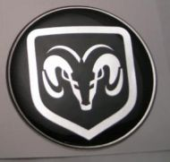50mm RAM DODGE 3D Decal sticker