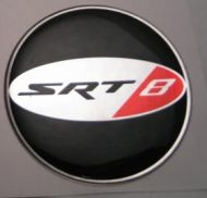 50mm SRT-8 3D Decal sticker for dodge wheel caps