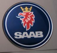 32mm/1.26inc standard SAAB Steering Wheel 3D Decals Sticker