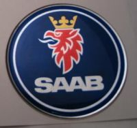 44mm/1.73inc SAAB Steering Wheel 3D Decals Sticker