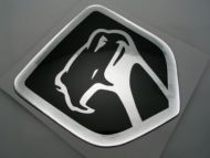 XLarge Viper Old Black Chrome 3D Decal sticker/dodge