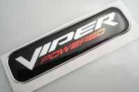Large Viper POWERED 3D Decal sticker for dodge RAM