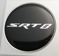 50mm SRT 8  Black Chrome 3D Decal sticker for dodge chrysler car