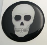 50mm scull 3D Decal