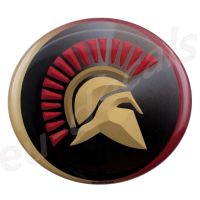 Oval SPARTAN Helmet 3D Decal sticker