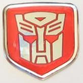 Dodge Charger 2006 -2010 - Steering Wheel Badge 3D Decal sticker Transformers Autobot Red/Chrome
