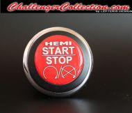 3D Decal cover for the Start/Stop Button - RED HEMI START/STOP  - For the 2008 and Up  Dodge Challenger