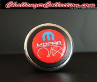 3D Decal cover for the Start/Stop Button - RED with Blue M and white mopar logo  - For the 2008 and Up  Dodge Challenger