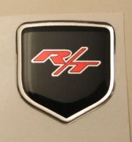 fits Dodge Charger 2006 -2010 - Steering Wheel Badge 3D Decal sticker R/T Red/Black/Chrome