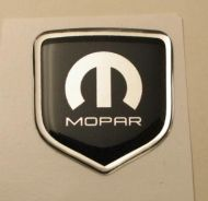 fits Dodge Avenger 2011 and Up - Steering Wheel Badge 3D Decal sticker MOPAR  BLACK / CHROME with M and Mopar logo
