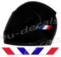 Helmet France Flags 3D Decals Set Left and Right
