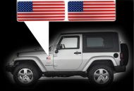 for Jeep Wrangler specific made fender American flags set Left-Right 3D Decals