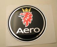 50mm AERO BLACK SAAB 3D Decal