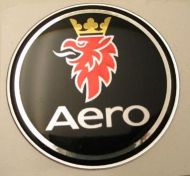 63.5mm/2.50inc. AERO BLACK SAAB Hood badge 3D decal
