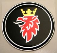 50mm Black Griffin SAAB 3D Decal