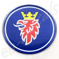 44mm/1.73inc Blue Griffin SAAB Steering Wheel 3D Decals Sticker