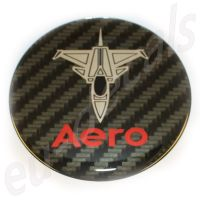 63.5mm/2.50inc. Carbon Red Chrome SAAB JET Aero  Hood badge 3D decal