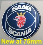 75mm/2.95inc SAAB SCANIA bagge 3D Decal