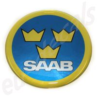63.5mm/2.50inc. SAAB Swedish Air Force Hood badge 3D decal