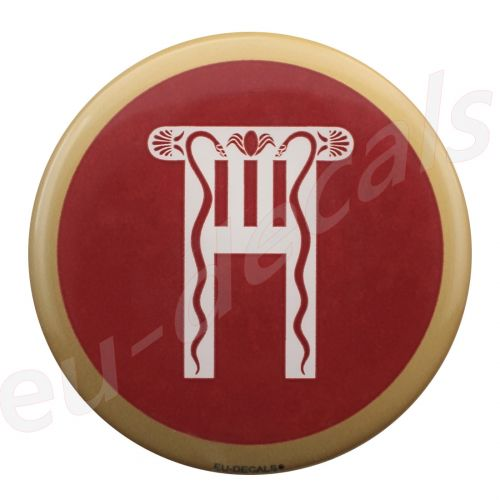 Spartan Royal Quard shield Red 70mm 3D Decal
