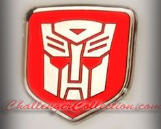 Steering Wheel 3D Decal badge – RED / CHROME with Autobot Transformers logo  - For the 2008-2010  Dodge Challenger