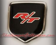 fits Dodge Caliber 2007-2012 - Nose 3D Decal badge – RED / BLACK / CHROME with R/T