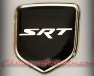 Nose 3D Decal badge – BLACK / CHROME with SRT - For the 2008 and Up  Dodge Challenger