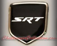 Steering Wheel 3D Decal badge – BLACK / CHROME with SRT - For the 2008-2010  Dodge Challenger