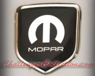 Nose 3D Decal badge – BLACK / CHROME with M and Mopar logo     - For the 2008 and Up  Dodge Challenger