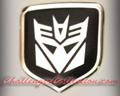Steering Wheel 3D Decal badge - BLACK / CHROME with Decepticon Transformers logo  - For the 2008-2010  Dodge Challenger