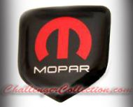 Nose 3D Decal badge –  RED / WHITE / BLACK with M and Mopar logo   - For the 2008 and Up  Dodge Challenger