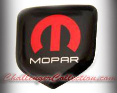 fits Dodge Avenger 2011 and Up - Steering Wheel Badge 3D Decal sticker MOPAR RED / WHITE / BLACK with M and Mopar logo