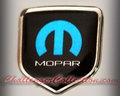 Steering Wheel 3D Decal badge – BLACK / CHROME / BLUE with M and mopar logo   - For the 2008-2010  Dodge Challenger